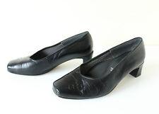 Negro Cuero 100% Real Jenny by Ara resbalón en el tribunal damas zapatos talla UK4.5 EU37.5