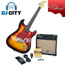 Electric Guitar Pack Kit Sunburst Guitar Amp Tuner Strap Picks - DJ City
