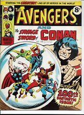 MARVEL AVENGERS and CONAN COMIC #100, 1975 - BRITISH EDITION