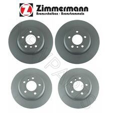 BMW F10 535d 535i xDrive Front and Rear Vented Brake Disc Rotors KIT Zimmermann