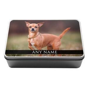 Personalised Toy Dogs Animals Metal Storage Tin Pug Chihuahua Shih Tzu Yorkie