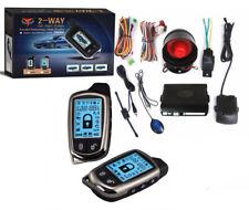 KIT ALLARME ANTIFURTO AUTO COMPLETO 2 TELECOMANDI 2 VIE LCD SIRENA CENTRALINA