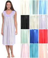 Casual Nights Women's Sleeveless Flower Satin Nightgown