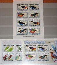 GUINEA 2001 Klb 3394-01 Block 683-84 Vögel aller Welt Birds Fauna Nature MNH