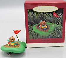 Hallmark 1996 I Dig Golf Christmas Ornament Unique Clip On Style Gopher New (If)