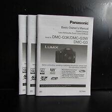 Panasonic DMC-G3 K W Camera Basic Concise Manual English & Espanol Basicas