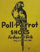 Vintage Poll Parrot Shoe Advertising Note Pad Booklet Star Brand Calendar 1939