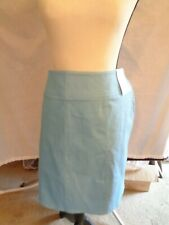 New Chaus Women's Pool Blue Skirt With Side Zipper Size 16