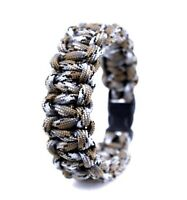 - 8 1//2 pouces 550 Paracord Survival Bracelet Hand Made USA noir et étoiles #1
