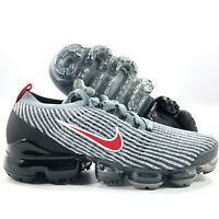 Nike Air Vapormax Flyknit 3 Particle Grey Red Black White AJ6900-012 Men's 8-9