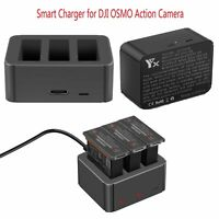 For DJI OSMO Action Camera 3 Battery Port Fast Smart Charger USB Charging Cradle
