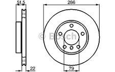BOSCH Juego de 2 discos freno Antes 286mm ventilado BMW Serie 3 Z4 0 986 478 513