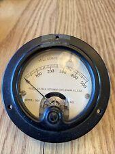 Vintage Weston Electrical Instrument Gauge Model 301 Milliamperes Dc 0 500