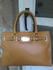 NWT Michael Kors Authentic Large Hamilton E/W Tote Tan 38T1XHMT9L