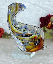 Glasfigur Hibou Oiseau personnage UHU Sculpture Murano Verre Cristal Art Deco Nouveau