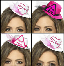Mini Hut Aufschrift BRAUT & TEAM BRAUT mit Haarclips Jungggesellenabschied JGA