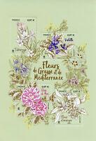 France Mediterranean Flowers Stamps 2020 MNH Roses Violet Plants Nature 4v M/S