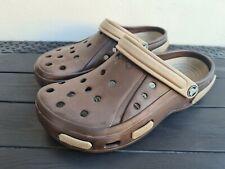 Brown & Khaki Beige Crocs ~ Clogs ~ Size US 9 - UK 8 - Eur 42