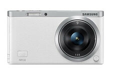 Samsung SMART CAMERA NX Mini Body with 9mm Lens White /20.5MP,W-iFi,NFC NEW