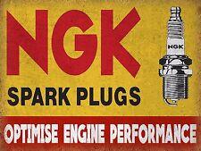 NGK Spark Plugs, Vintage Style Metal Aluminium Sign, gift, garage, car