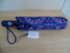 Vera Bradley UMBRELLA Compact 1 Touch Automatic Open Ellie Medallions, New w/Tag