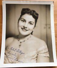 Soprano Lucine Amara Autograph Photo