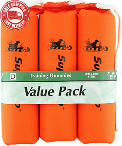 D.T. Systems Super Pro Series Dog Training Dummy Nylon Large Pack of 3