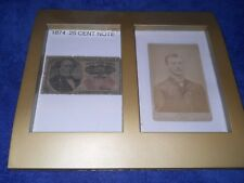 original framed 1874 .25 cent note with original photo mint condition,nice gift*