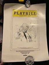 Vtg 90 Richard Rodgers Theatre Broadway Playbill Poster Al Hirschfeld Drawing LE