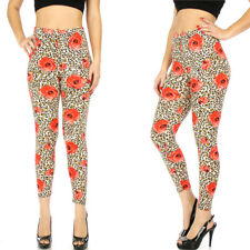 Ladies roses and leopard leggings size XS-S
