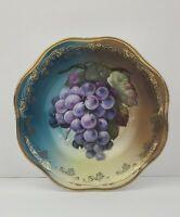 Vintage Z.S. & Co Mignon Bowl #6020 Bavaria Grapes Hand Painted Gold accents