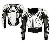Adult White Motocross Body Armour Bikequad Protective Enduro Bionic Quad Jacket