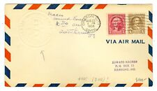 RARE 1934 AIRSHIP MACON COVER MELLONE #8/22/34-25 OREGON CITY,OR. ONLY 9 MADE