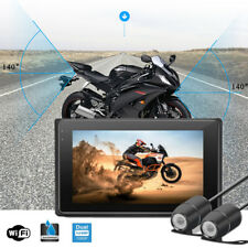 Wifi 1080P Dual Lens Motorcycle Camera Recorder DVR GPS Line Control Waterproof