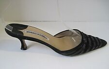 Manolo Blahnik Solid Kitten Mules for Donna sale for sale Donna     41b7b1