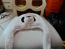 Youth Panda Animal hat white and black NWT
