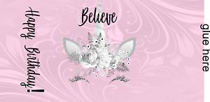30 Unicorn Hershey Miniature Wrapper - Nugget Label Baby Shower Birthday Damask
