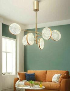 Nordic Modern Acrylic Adjustable Chandelier Led Bulb Brass Finish Ceiling Lamp