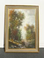Beautiful Vintage Original Autumn Forest Scene Oil PAINTING Signed H.Nilsen