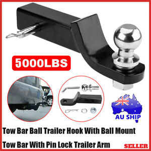Towbar Tongue Tow Bar Hitch Mount Pin &Ball Caravan Trailer 4WD Car Boat Trailer