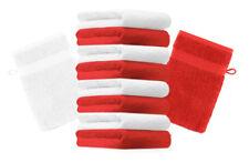 Betz 10er Pack Waschhandschuhe Premium Farbe: Rot & Weiß Größe: 16x21 cm