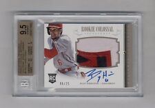 BILLY HAMILTON 2014 TREASURES PATCH AUTO RC #6/25 BGS 9.5 10 JERSEY NUMBER 1/1