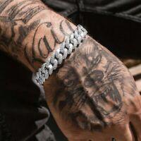 Männer Panzerarmband Hip Hop Armband Edelstahl Kubanische Armkette 10MM Tsa @q#
