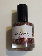R HOBBY NAIL POLISH THE HAUL HALLOWEEN ORANGE CRAZY GLITTER LACQUER INDIE