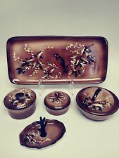 New ListingBritish Anchor Pottey Vintage 9 pce Porcelain Hand Painted Dresser Vanity Set