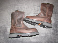 NWOB Timberland PRO A11YA 4101 Leather Boots Work Steel Toe Brown Mens SIZE 8.5w