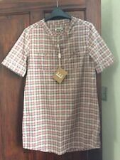 Barbour Pink Multi Check Tunic Top 100% Cotton Size UK 10 BNWT