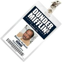 The Office STANLEY HUDSON Dunder Mifflin ID Badge Cosplay Costume Name Tag TO-15