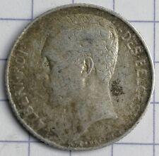 BELGIQUE 50 centimes Wiener ALBERT Ier ARGENT 1912 FR Silver coin AG 2