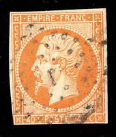 FRANCE - Yv.16 obl. Losange J de Paris - B court en bas